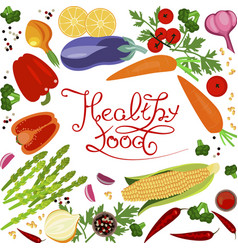 Healthy food banner vector