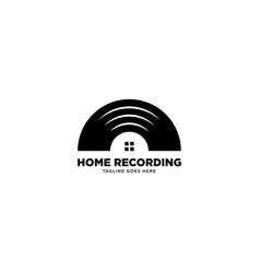Home recording logo template icon element vector