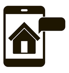House smartphone observation icon simple style vector