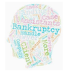 How Bankruptcy Assistants Work text background vector image