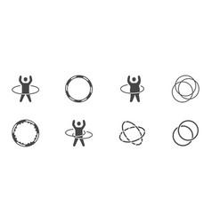 hula hoop glyph icons vector image