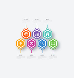 infographics seven options vector image