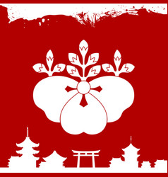 Japanese culture symbolic ornaments vector