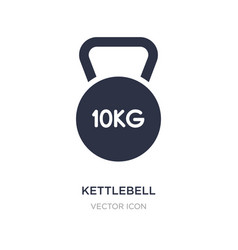 Kettlebell icon on white background simple vector