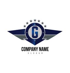 letter g shield logo vector image