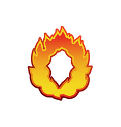 Letter o fire flames font lettering tattoo vector