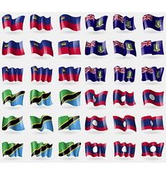 Liechtenstein VirginIslandsUK Tanzania Laos Set of vector
