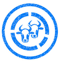 Livestock diagram rounded grainy icon vector