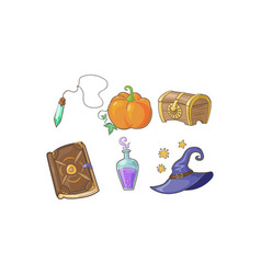magical signs set halloween symbols potion vector image