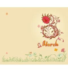 March 8 vector
