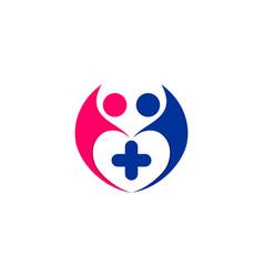 Medical clinic kids logo vector