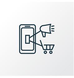mobile marketing icon line symbol premium quality vector image