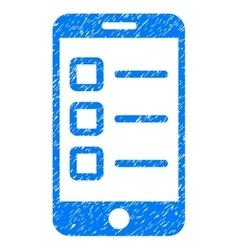 Mobile Test Grainy Texture Icon vector