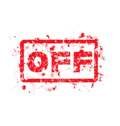 OFF Rubber Stamp isolated vector