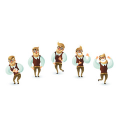 Office week man set vector