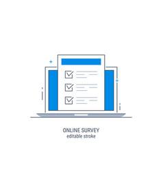 online survey vector image