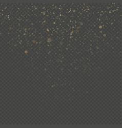 Overlay transparent glitter threads of curtain vector