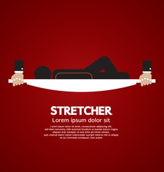 Patient Lay Down On Stretcher vector image