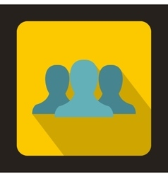 People icon flat style vector image vector image