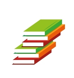 Pile books learning education online vector