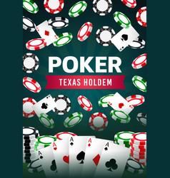 Poker texas holdem gamble game online casino vector