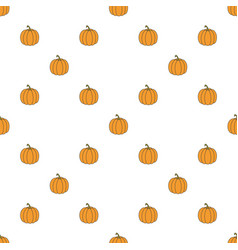 pumpkin hand drawn on white background hand drawn vector image