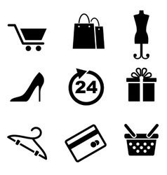 Retail and shopping icons vector image