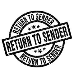 Return to sender round grunge black stamp vector