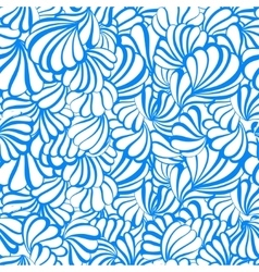 Sea shell seamless pattern on a white vector