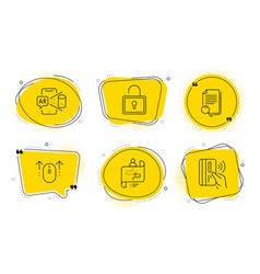 search file journey path and swipe up icons set vector image