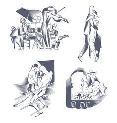 Set of hand drawn vector