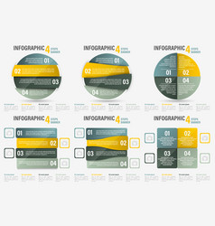 Set of infographic four steps banner vector