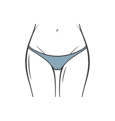 Sexy black panties icon women thong slim vector image