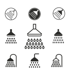Shower icon set vector