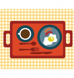 simple breakfast vector image