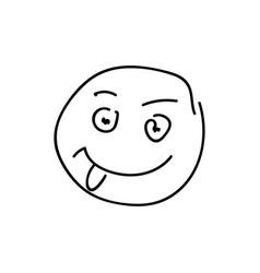 Sketch emoticon smiley face cartoon vector