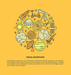 space elements concept banner template in line vector image