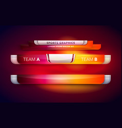 sport interface scoreboard vector image