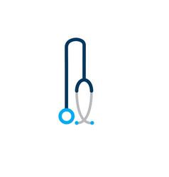 stethoscope icon isolated on white background vector image