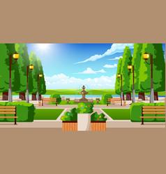 Summer park elements composition vector
