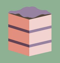 Sweet dessert in flat design piece of cake vector
