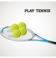 Tennis rackets and balls vector