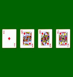 The royal diamond cards vector
