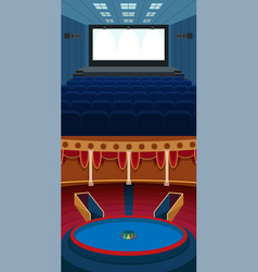 theater stage with curtains entertainment vector image