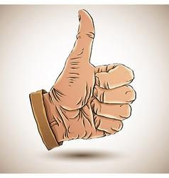 Thumb up like hand vector image