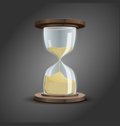 traditional hourglass symbol vector image