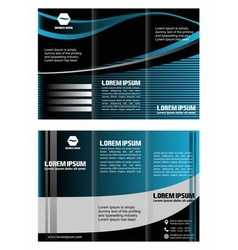 Tri-fold technology Style Brochure Layout Design vector image
