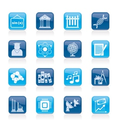 University and higher education icons vector