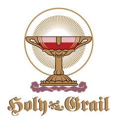 Vintage holy grail spiritual vector