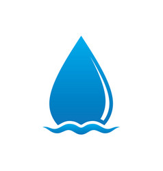 Wave waterdrop sign logo vector